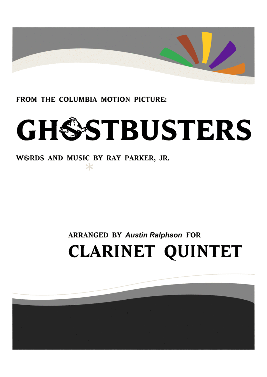 Ghostbusters - clarinet quintet