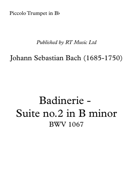 Bach BWV1067 Badinerie from Suite in B minor.