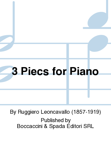 3 Piecs For Piano