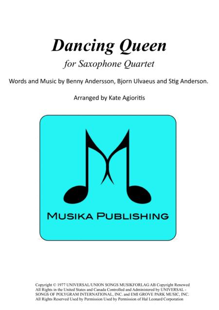 Dancing Queen - for Saxophone Quartet