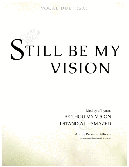 Still Be My Vision (Vocal Duet SA)
