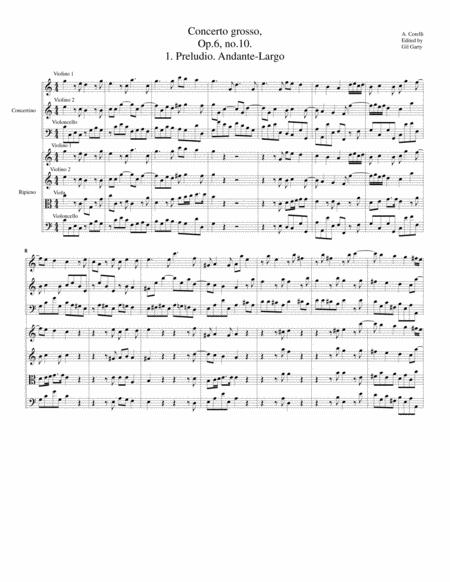 Concerto grosso, Op.6, no.10 (original)