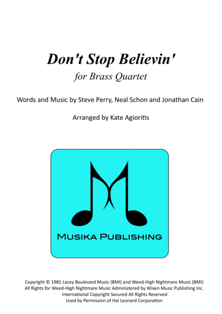 Don't Stop Believin' - for Brass Quartet