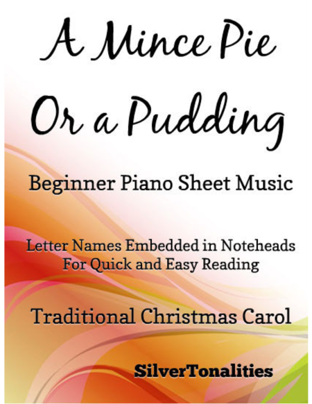 A Mince Pie or a Pudding Beginner Piano Sheet Music