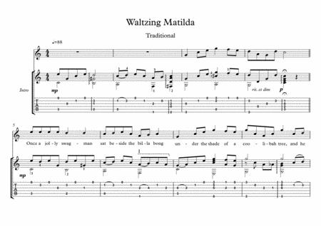 Waltzing Matilda classical guitar solo