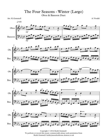 Winter - Four Seasons (Largo): Oboe & Bassoon Duet