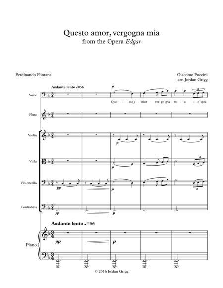 Questo amor, vergogna mia from the Opera Edgar