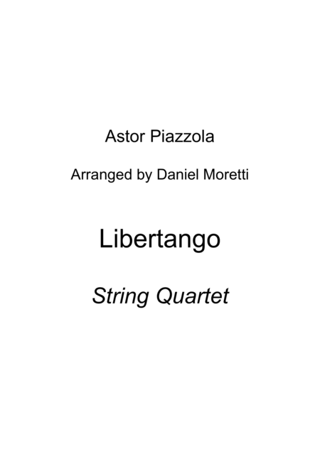 Libertango - Astor Piazzolla (String Quartet)