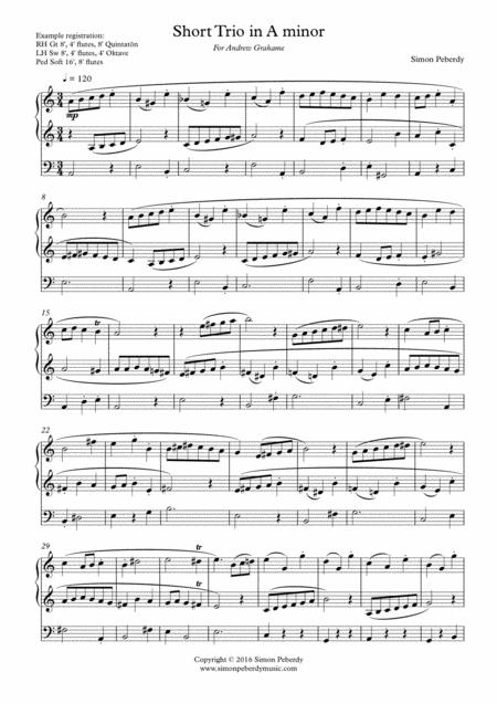 Organ Short Trio in A minor