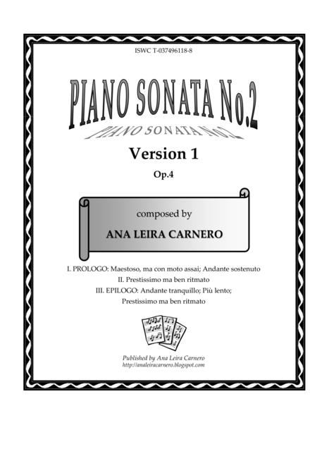 Piano Sonata No.2, Version 1
