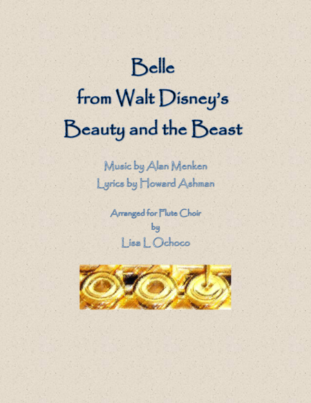 Belle from Walt Disney's Beauty and the Beast for Flute Choir