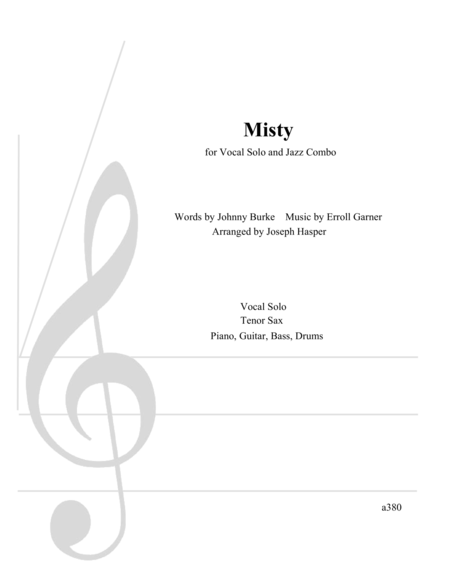 Misty - Vocal Solo with Jazz Combo (Advanced)