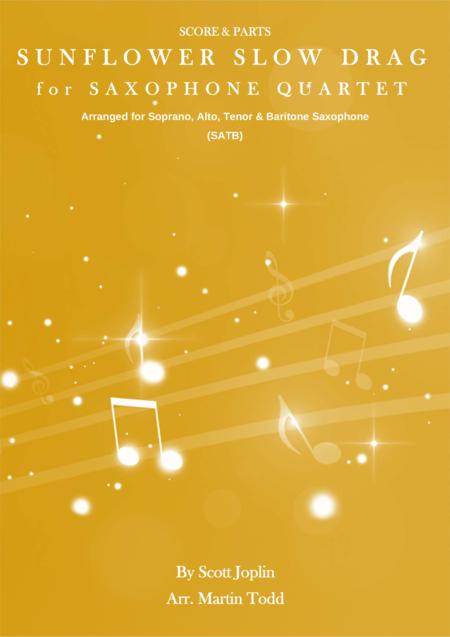 Sunflower Slow Drag for Saxophone Quartet (SATB)