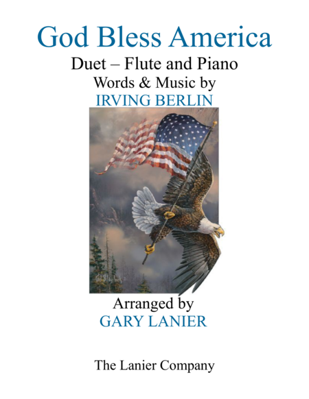 GOD BLESS AMERICA (Duet –  Flute & Piano with Parts)