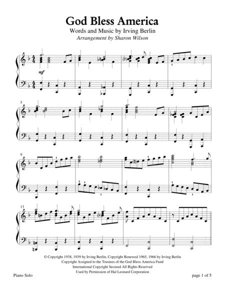 God Bless America (Piano Solo)