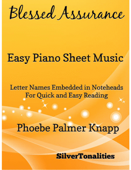 Blessed Assurance Easy Piano Sheet Music