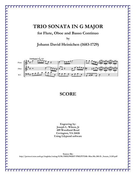 Heinichen Trio Sonata in G Major, S. 243