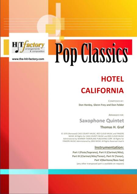 Hotel California - Eagles Classic - Saxophone Quintet