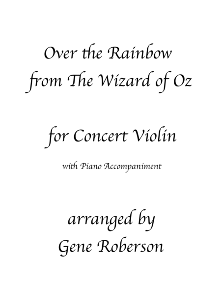 Over The Rainbow Violin Solo(from The Wizard Of Oz)