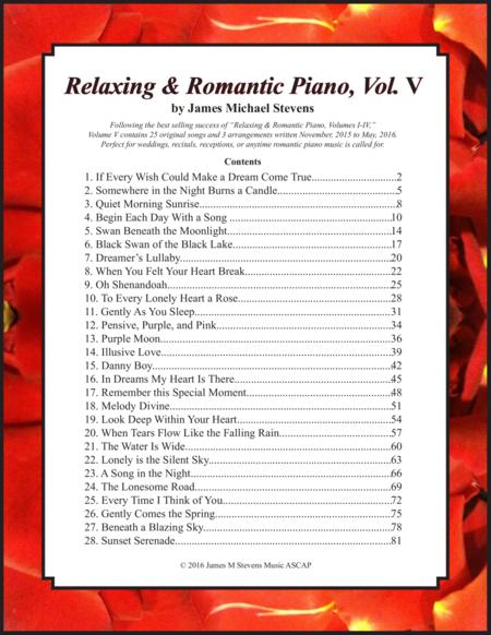 Relaxing & Romantic Piano, Vol. V