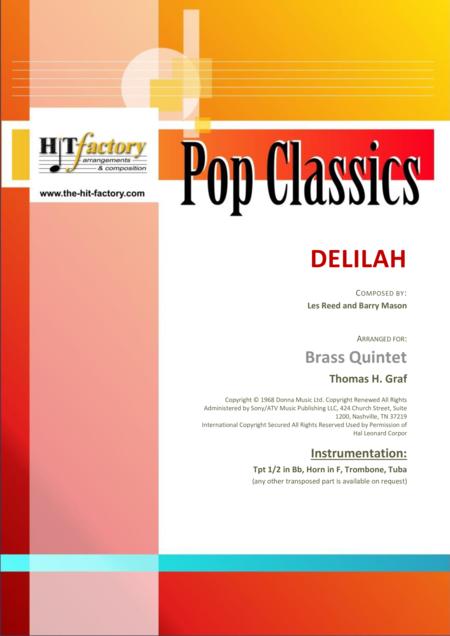 Delilah - Tom Jones Classic - Brass Quintet