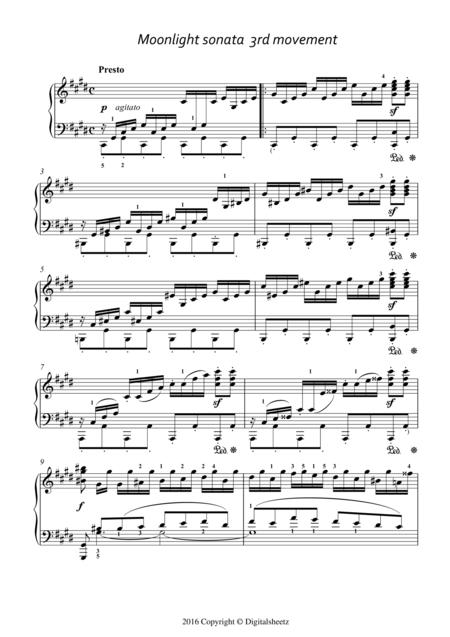 Moonlight Sonata (3rd Movement) With Fingering