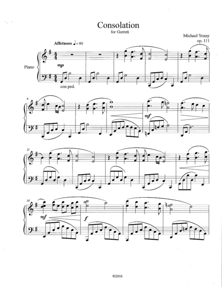 Consolation, op. 111