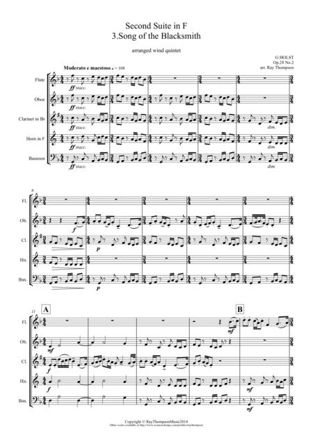 Holst: 2nd Suite in F Op. 28 No.2 Mvt. III.