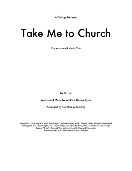 Take Me To Church - Violin Trio