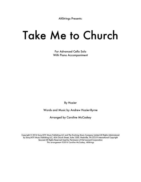 Take Me To Church - Cello, Piano Accompaniment
