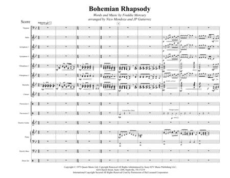 Bohemian Rhapsody (arranged for percussion ensemble)