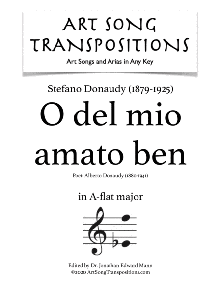 O del mio amato ben (A-flat major)