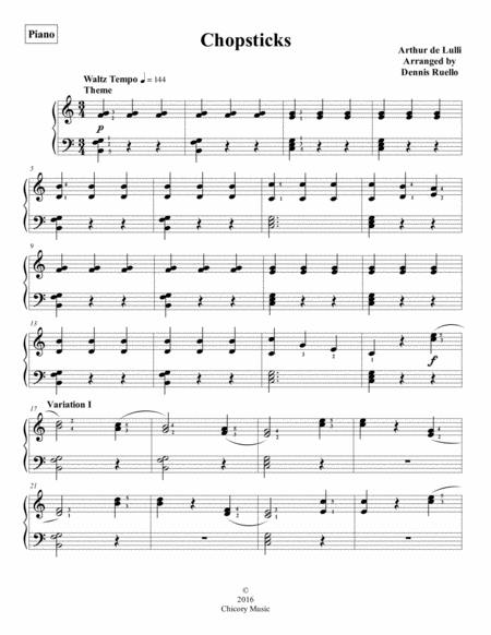 Chopsticks - Piano Solo - Early Intermediate