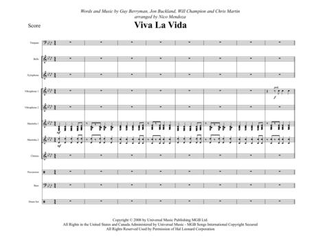 Viva La Vida (arranged for percussion ensemble)