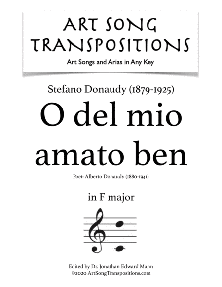 O del mio amato ben (F major)