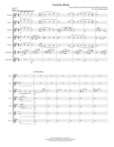 Feed The Birds (for Expandable Flute Choir)
