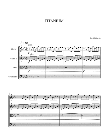 Titanium for String quartet ( score and part included)