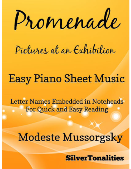 Promenade Pictures at an Exhibition Easy Piano Sheet Music