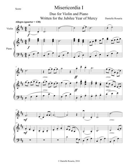 Misericordia I: Duo for Violin and Piano