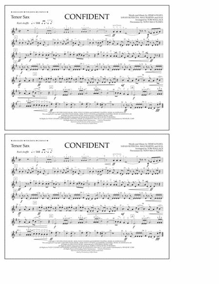 Confident - Tenor Sax