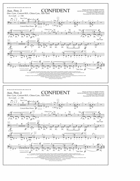 Confident - Aux. Perc. 2