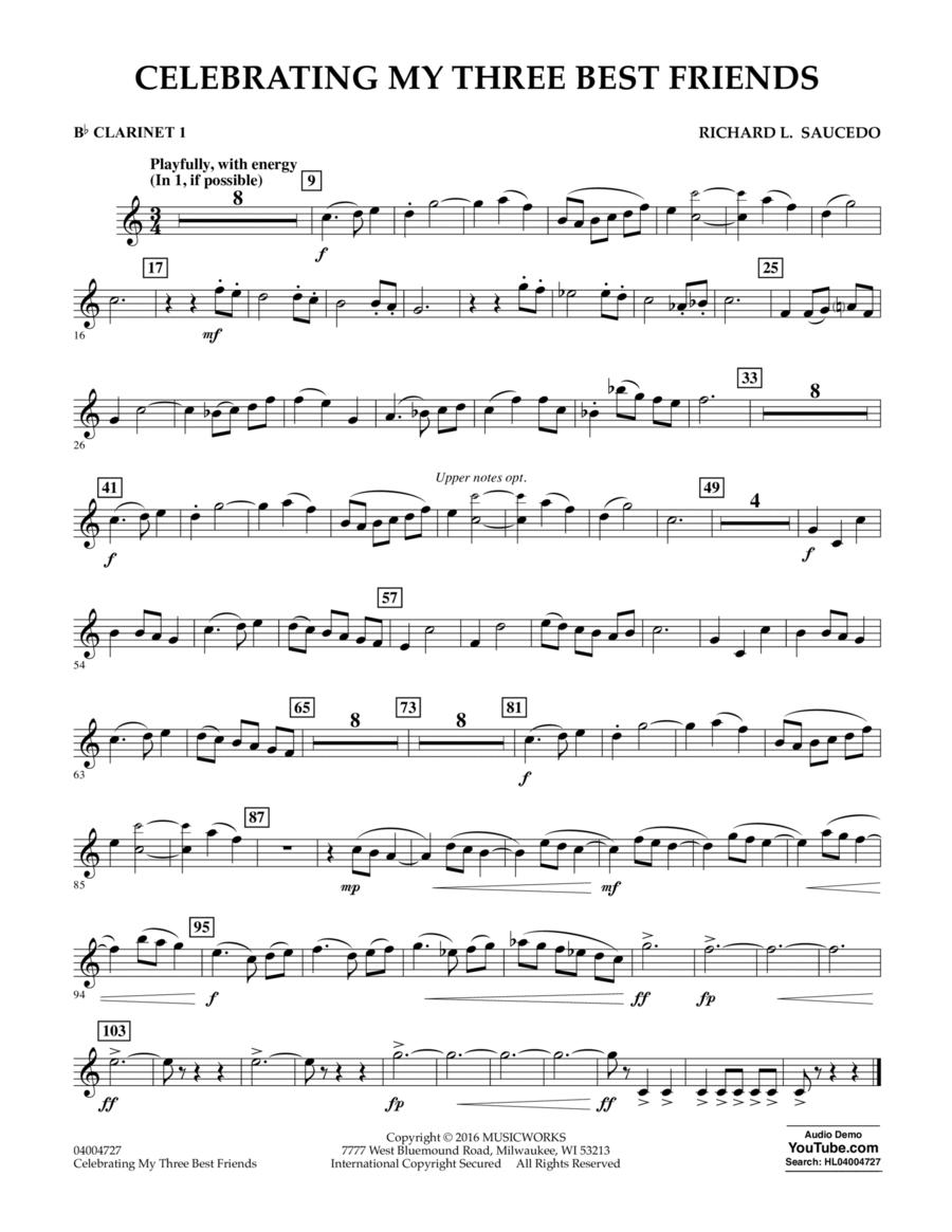 Celebrating My Three Best Friends - Bb Clarinet 1