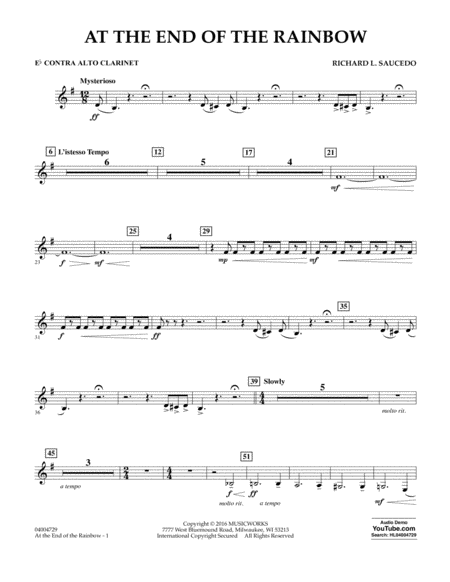 At the End of the Rainbow - Eb Contra Alto Clarinet