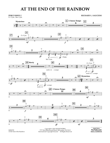 At the End of the Rainbow - Percussion 2