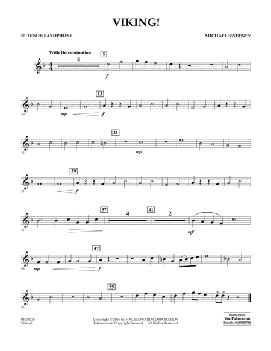 Viking! - Bb Tenor Saxophone