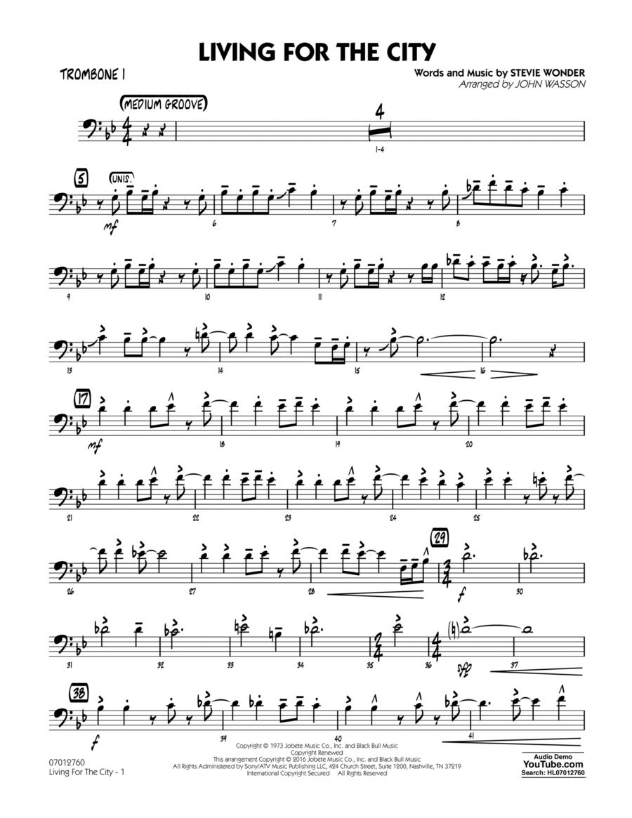 Living for the City - Trombone 1