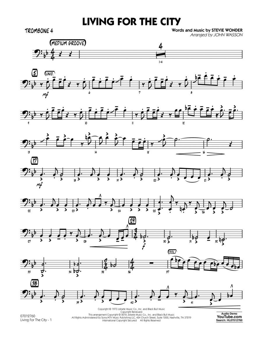 Living for the City - Trombone 4