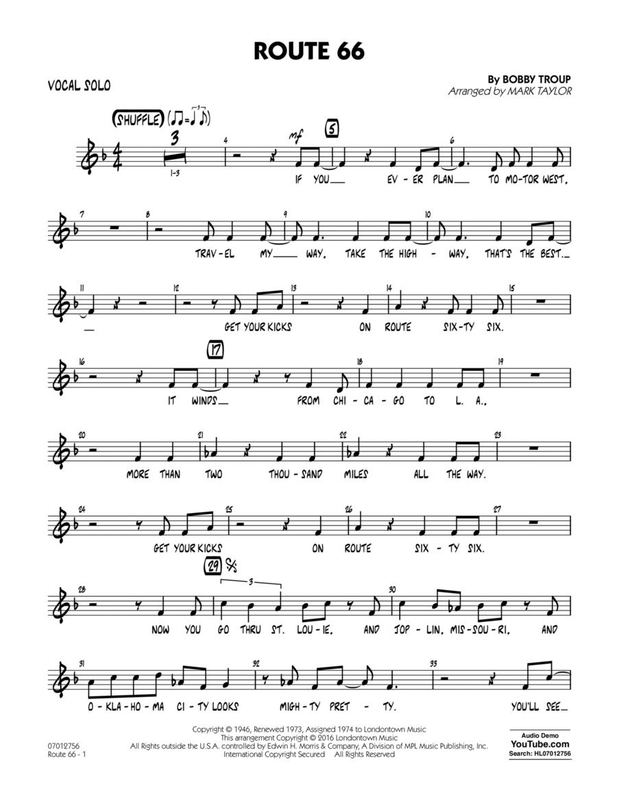 Route 66 (Key: F) - Vocal Solo