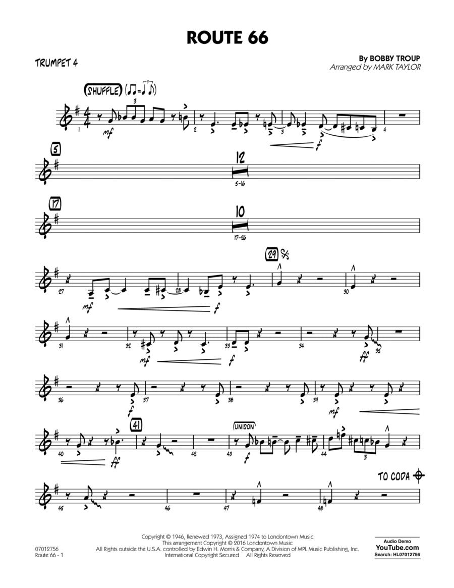 Route 66 (Key: F) - Trumpet 4
