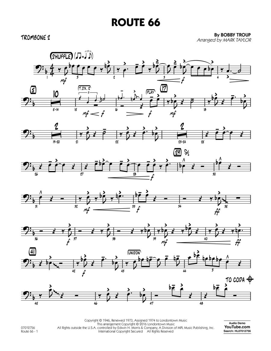 Route 66 (Key: F) - Trombone 2